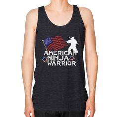 American Ninja Warrior Unisex Fine Jersey Tank (on man) Shirt