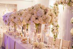 Elegant wedding centerpiece idea; photo: DFinney Photography