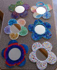 #SpringHolidayArt 2015  Mirror Creations. Mirror, Create, Spring, Artwork, Kids, Young Children, Work Of Art, Boys, Auguste Rodin Artwork