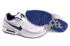 finest selection fe668 4b801 Air Max BW Hommes Blanc argent bleu Bleu Royal, Royal Blue, Nike Shox Shoes