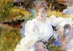 The Athenaeum - Evening: Portrait of Miss Marion Barnard (John Singer Sargent - )