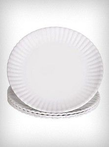 "Washable ""Paper"" Plate Platter"