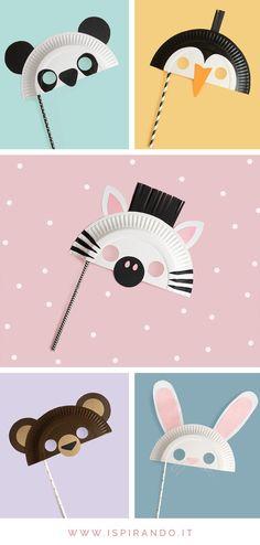 Maschere con piatti di carta: 5 maschere di animali fai da te - Ispirando