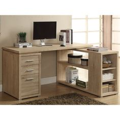 @Overstock.com - Natural Reclaimed-look Corner Desk - This stylish desk has a natural reclaimed-looking finish and offers plenty of space to store your things. This corner desk can be configured with the drawers on the left- or right-hand side. http://www.overstock.com/Home-Garden/Natural-Reclaimed-look-Corner-Desk/8334900/product.html?CID=214117 $413.99