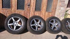 Alu kola 5x114,3 r18 pěkné zimní pneu - 1