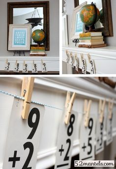 Back to School Mantel Details (with free printable link!) Back to School Mantel Details (with free printable link!) - Back To School