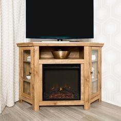 48 Corner Fireplace Tv Stand Console Barnwood X 20 32h Middlebrook Designs Gl