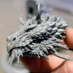 ArtStation - Forest Dragon bust kit, Paul Tan