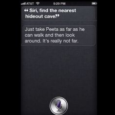 Siri helping Katniss in the arena. Lol #Hungergames #humor