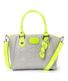Take a look at this Green Neon Hello Kitty Tote on zulily today! Hello Kitty Handbags, Hello Kitty Purse, Hello Kitty Makeup, Hello Kitty Collection, Cute Charms, Cute Bags, Small Bags, Purse Wallet, Purses And Bags