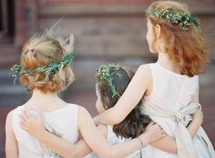 The little ones... Photo by Jen Huang, Wreaths by Poppies and Posies | New Hampshire Wedding