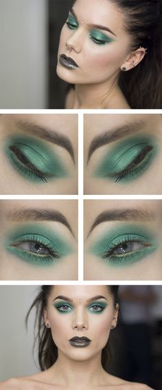 GREEN ENVY ♥ Linda Hallberg - incredible makeup artist. Very inspiring -- from her daily makeup blog. | Inspiration for upcoming projects by Adagio Images at www.adagio-images.com/modeling or www.facebook.com/adagioimages | #makeup #makeupinspiration ♥