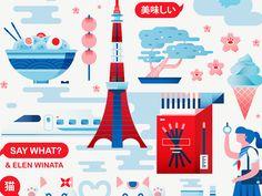 Say What? Illustrations by Elen Winata #Design Popular #Dribbble #shots
