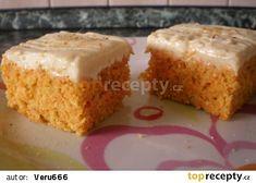 Vynikající mrkvové řezy recept - TopRecepty.cz Sweet Cakes, Vanilla Cake, Muffin, Breakfast, Recipes, Morning Coffee, Muffins, Ripped Recipes