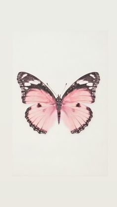 Butterfly Wallpaper Iphone, Iphone Background Wallpaper, Aesthetic Iphone Wallpaper, Wallpaper Desktop, Girl Wallpaper, Wallpaper Quotes, Polka Dot Art, Photo Chat, Pink Butterfly