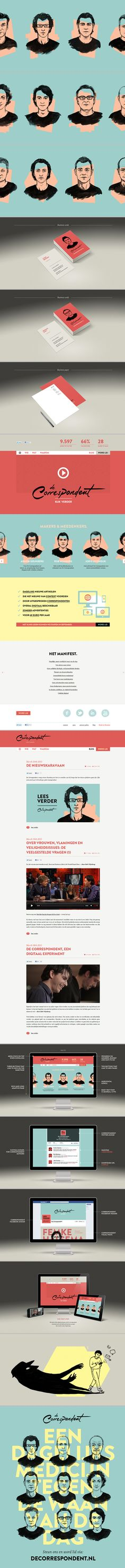 De Correspondent identity and website by Momkai