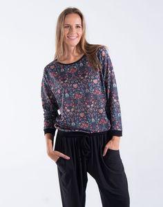 clothes multicolor flower shirt | natura