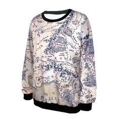 Cool Middle-earth map long-sleeved shirt. Attire of geeks!