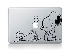 Snoopy Mac Decal Macbook Stickers Macbook Decals by ElegantDecal, $6.99