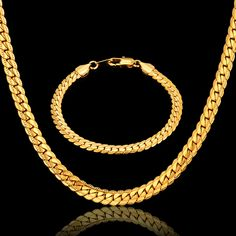 Hiphop Gold Chains For Men Hot Sale Bracelet/Necklace Set Gold Color Men Jewelry, American Style Chain Male Jewelry Sets & More. Yesterday's price: US $15.62 (12.91 EUR). Today's price: US $7.50 (6.21 EUR). Discount: 52%.
