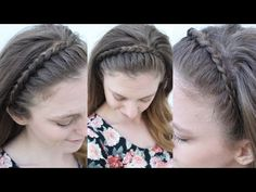 Easy Braided Headband Style | Braided Headbands | Braidsandstyles12 - YouTube
