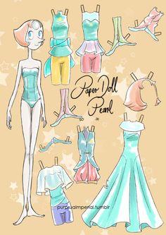 Pearl paper doll by LadyAmaltea on DeviantArt Rebecca Sugar Art, Box Template Printable, Pearl Steven, Barbie Paper Dolls, Miraculous Ladybug Memes, Cute Pokemon, Paper Models, Paper Toys, Geek Stuff