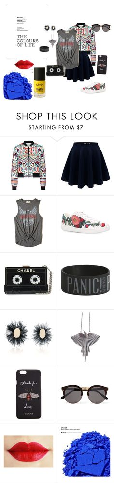 """Rock Chic"" by ktree5 on Polyvore featuring Alice + Olivia, Hollister Co., Gucci, Hot Topic, Proenza Schouler, Illesteva, Urban Decay and NYX"