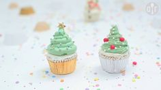 Cupcakes decorados árbol de Navidad
