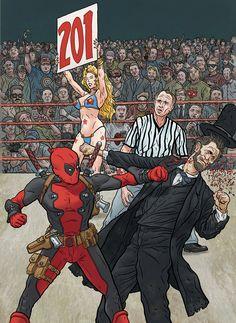 Deadpool vs. Abraham Lincoln by Geoff Darrow *