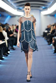 Celebrities who wear, use, or own Chanel Spring 2012 Couture Beaded Tiered Dress. Also discover the movies, TV shows, and events associated with Chanel Spring 2012 Couture Beaded Tiered Dress. Chanel Couture, Couture Fashion, Chanel Runway, Coco Chanel, Black Sparkle Dress, Sparkle Dresses, Dressy Dresses, Love Fashion, Fashion Show