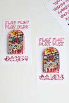 Aesthetic Nest: Invites: Audrey's Arcade Birthday Party Invitation (Printable)