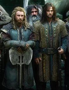 Fili and Kili in armor