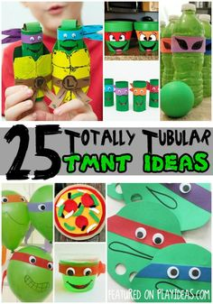 25 Totally Tubular Teenage Mutant Ninja Turtle Ideas for Kids Turtle Birthday Parties, Ninja Turtle Birthday, Ninja Turtle Party, Birthday Ideas, Birthday Cake, Craft Activities For Kids, Crafts For Kids, Children Crafts, Daycare Crafts