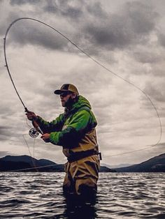 Perfect spey cast.