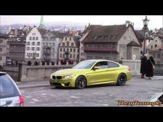BMW ///M4 in Austin Yellow Metallic: Making nice Sounds in Zürch!