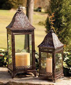 Love this Metal Lantern Set by Evergreen on #zulily! #zulilyfinds