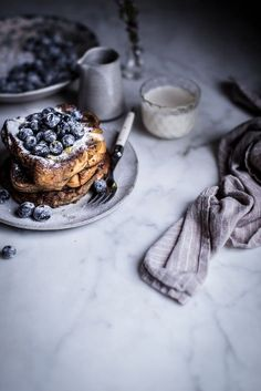 Local Milk | london fog french toast + sugared blueberries