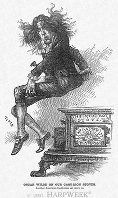 Harper's Weekly, Cartoon of the Day by Thomas Nast, September 9, 1882. Oscar Wilde was in the middle of his lecture circuit of the United States and Canada in 1882