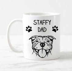 Staffy dad mug, dog mug, staffordshire bull terrier mug gift, dog owner gift, gift for him, best dog dad, funny dog mug, staffy dog mug Staffy Dog, Gifts For Dog Owners, Dad Mug, Staffordshire Bull Terrier, Dog Mom, Funny Dogs, Gifts For Him, I Shop, Dads