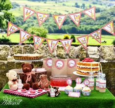 Teddy Bear's Picnic complete party set by ThePartyArtisan on Etsy, $29.99