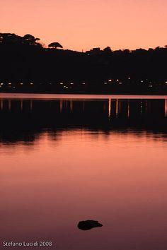 Lago di sera/Lago de noche - Lago di Castel Gandolfo