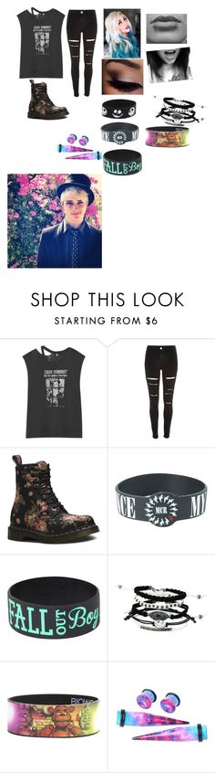 """Photoshoot with dalton"" by babykat6 ❤ liked on Polyvore featuring R13, River Island, Dr. Martens and Disney"