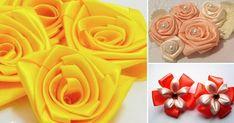 Hoje você vai aprender, passo a passo, como fazer 3 modelos de flor de cetim, todos lindos e muito fáceis. Vem ver!
