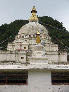 Chorten Kora - Nepalese-style stupa temple and monastery in Trashi Yangtse, Eastern Bhutan