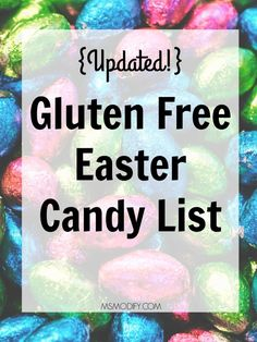 Gluten-Free Easter Candy List