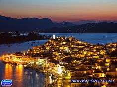 Poros at Night - Saronic Gulf Islands Greece