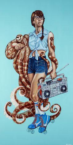 Octopus Squid, Octopus Tentacles, Skate Art, Muse Art, Under The Sea, Joseph, Graphic Art, Digital Art, Drawings