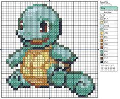 Sitting Squirtle cross stitch