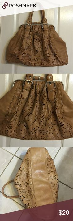 """Beautifully Designed Clutch Handbag Cute Light Brow Wonens large Clutch Hand Bag with 2 inner wall pockets and a zipper compartment. Gently used but in great condition. Appx. Bag measures: 8""""x 12""""x4"""". No trades. Bags Totes"""