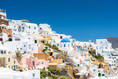 View from Oia, Santorini, Greece Photographic Print